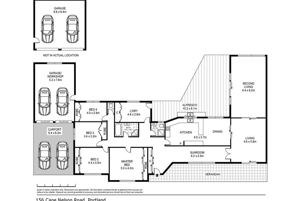 Floorplan of Homely house listing, 156 Cape Nelson Road, Portland VIC 3305