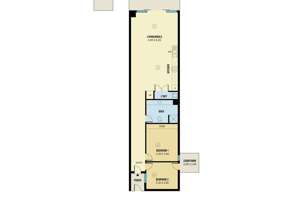Floorplan of Homely apartment listing, 3/100 Rose Terrace, Wayville SA 5034