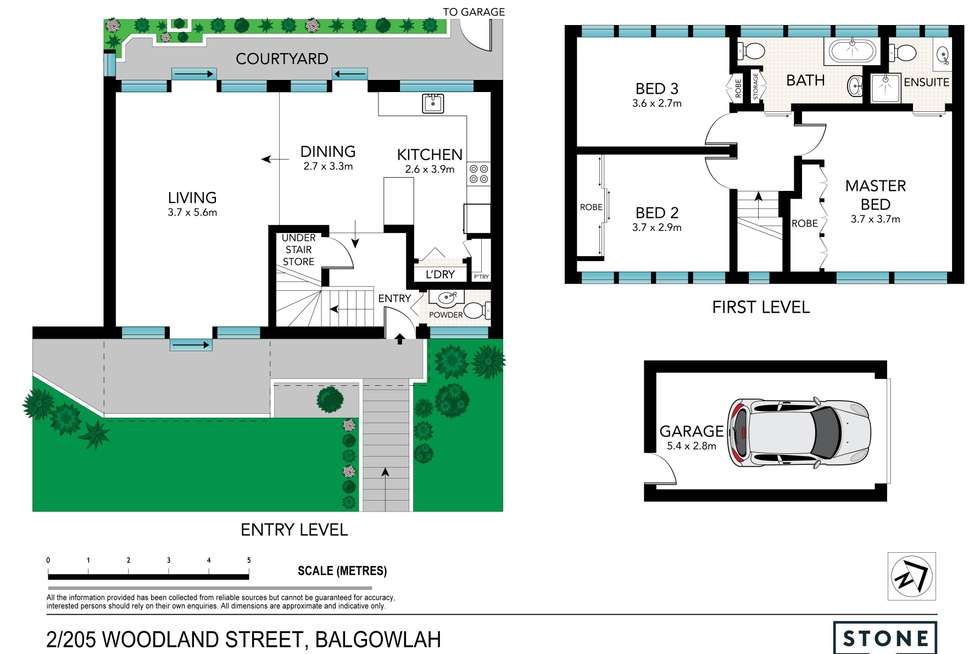 Floorplan of Homely townhouse listing, 2/205 Woodland Street, Balgowlah NSW 2093