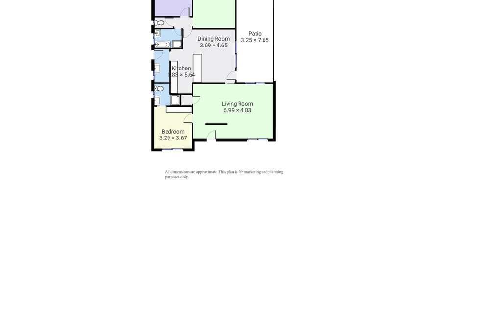 Floorplan of Homely house listing, 4 Ruby Road, Wodonga VIC 3690