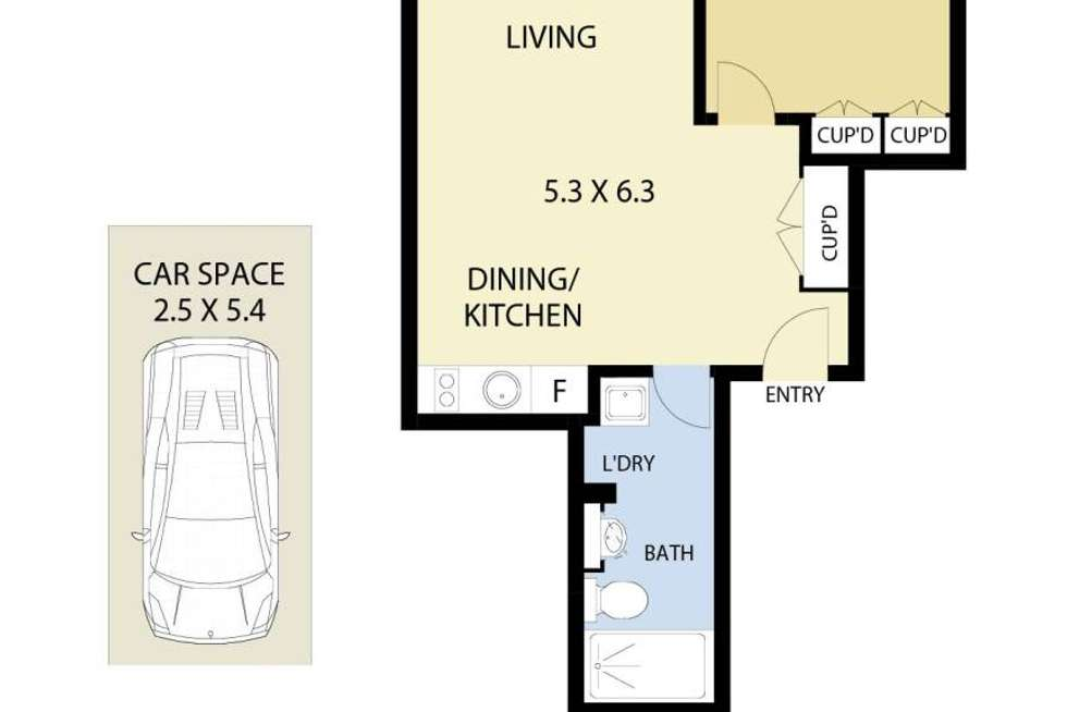 Floorplan of Homely apartment listing, 13/19A Young Street, Neutral Bay NSW 2089