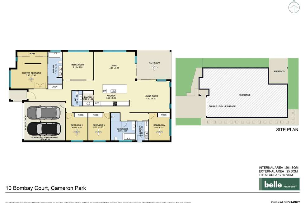 Floorplan of Homely house listing, 10 Bombay Court, Cameron Park NSW 2285