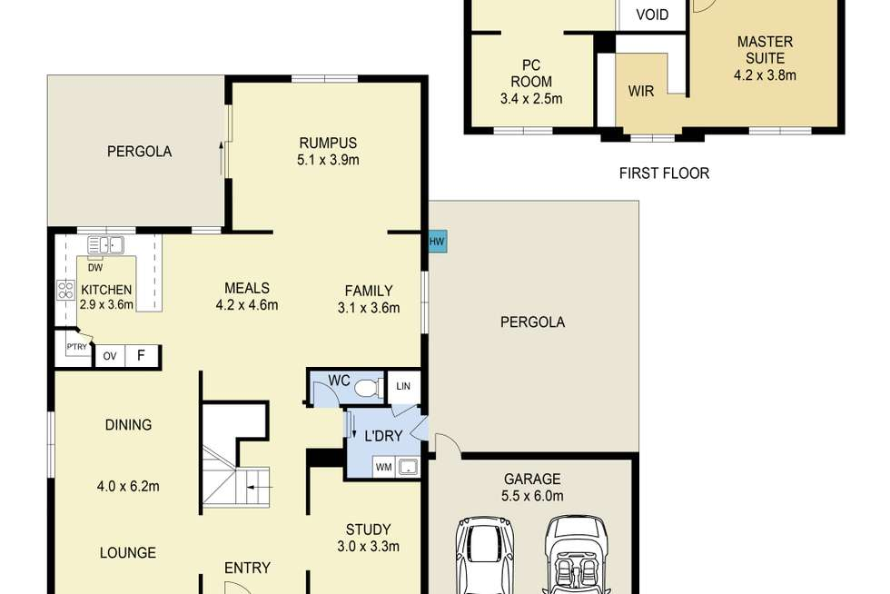 Floorplan of Homely house listing, 37 Queens Parade, Hillside VIC 3037