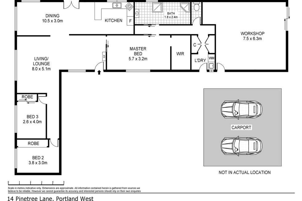 Floorplan of Homely house listing, 14 Pine Tree Lane, Portland VIC 3305