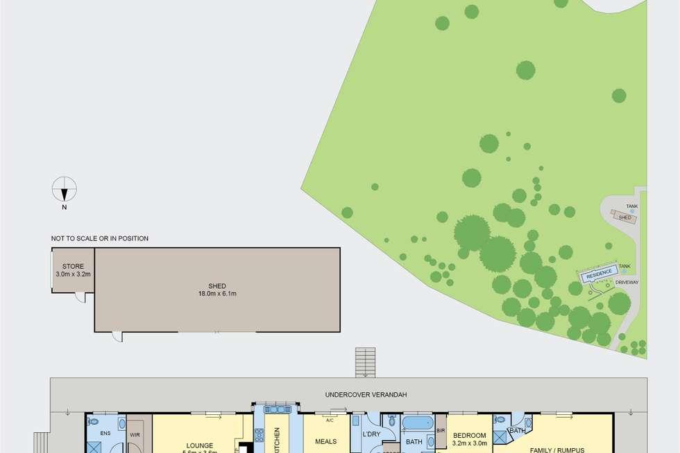 Floorplan of Homely ruralOther listing, 46 Riverside Drive, Riddells Creek VIC 3431