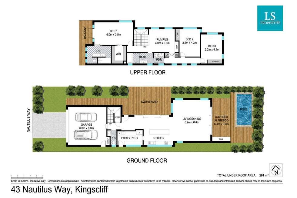 Floorplan of Homely house listing, 43 Nautilus Way, Kingscliff NSW 2487