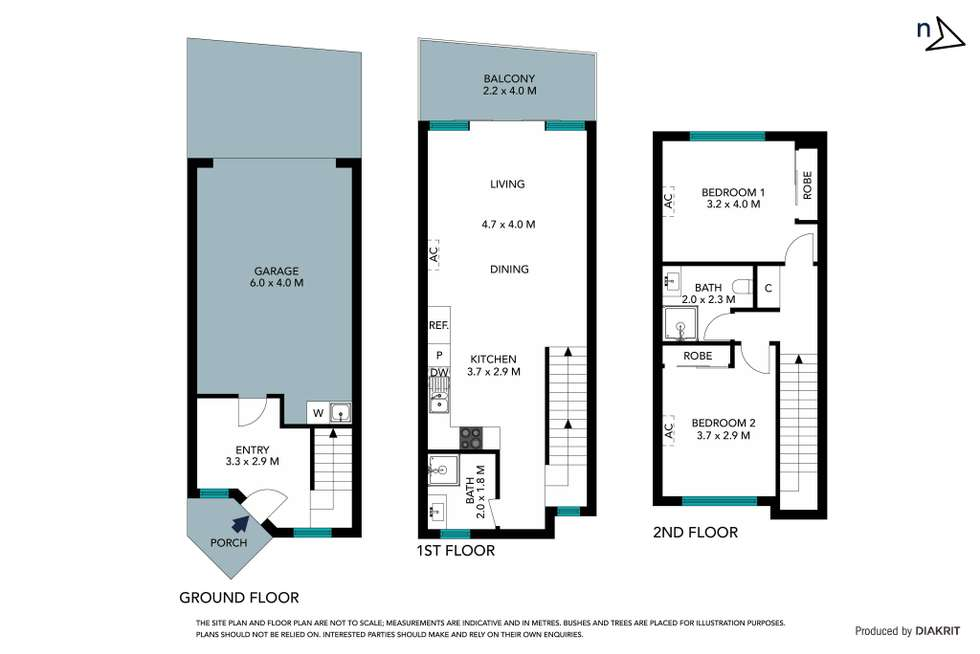 Floorplan of Homely townhouse listing, 3/100 Snell Grove, Oak Park VIC 3046