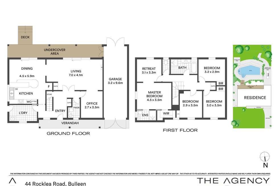 Floorplan of Homely house listing, 44 Rocklea Road, Bulleen VIC 3105