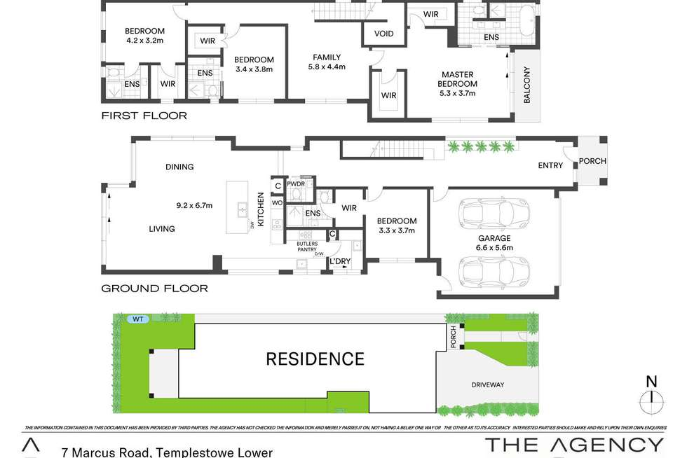 Floorplan of Homely townhouse listing, 7 Marcus Road, Templestowe Lower VIC 3107