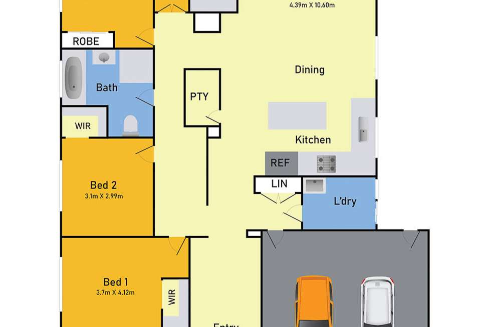 Floorplan of Homely house listing, 22 Bromley Circuit, Thornhill Park VIC 3335