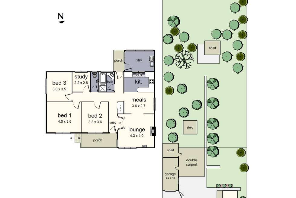 Floorplan of Homely house listing, 17 McComb Street, Lilydale VIC 3140