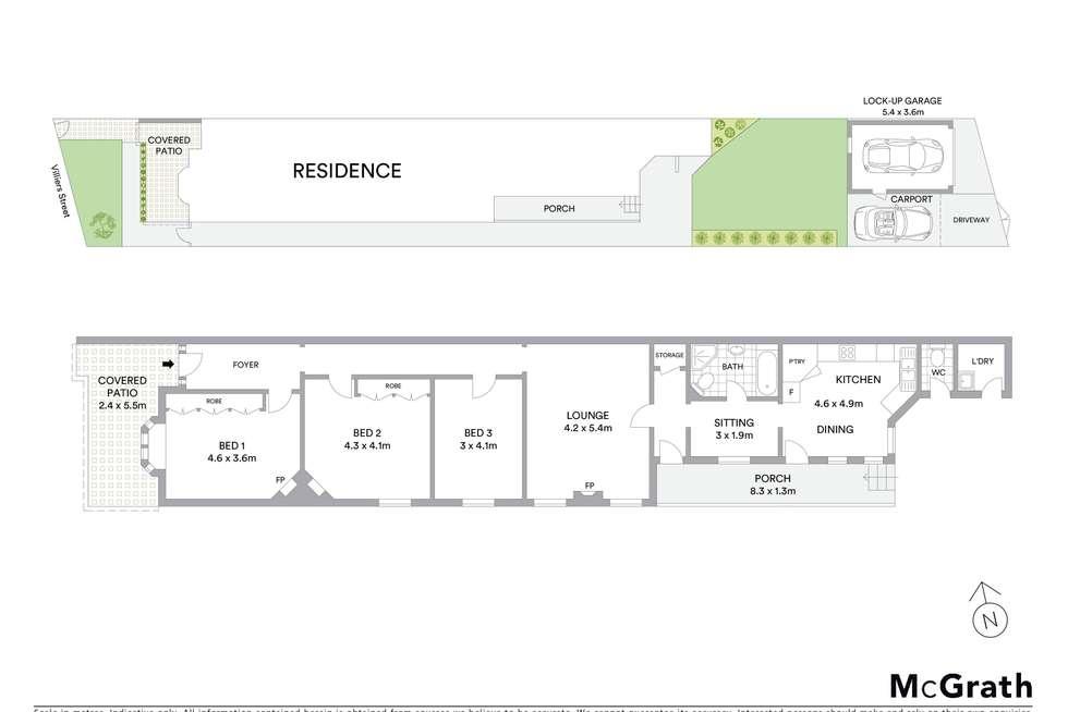 Floorplan of Homely house listing, 36 Villiers Street, Rockdale NSW 2216