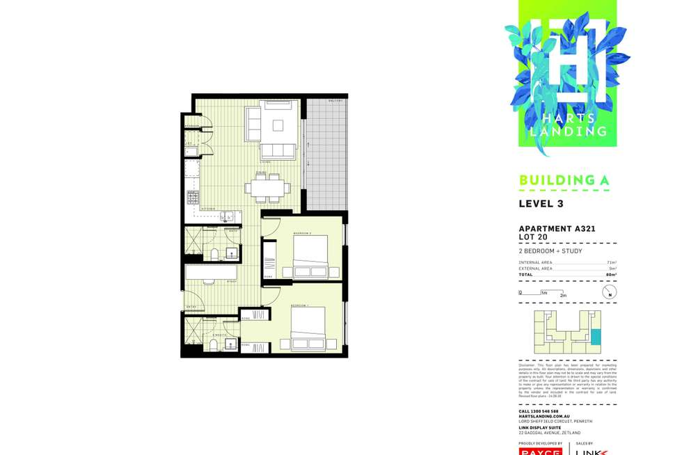 Floorplan of Homely apartment listing, 321/1-39 Lord Sheffield Circuit, Penrith NSW 2750