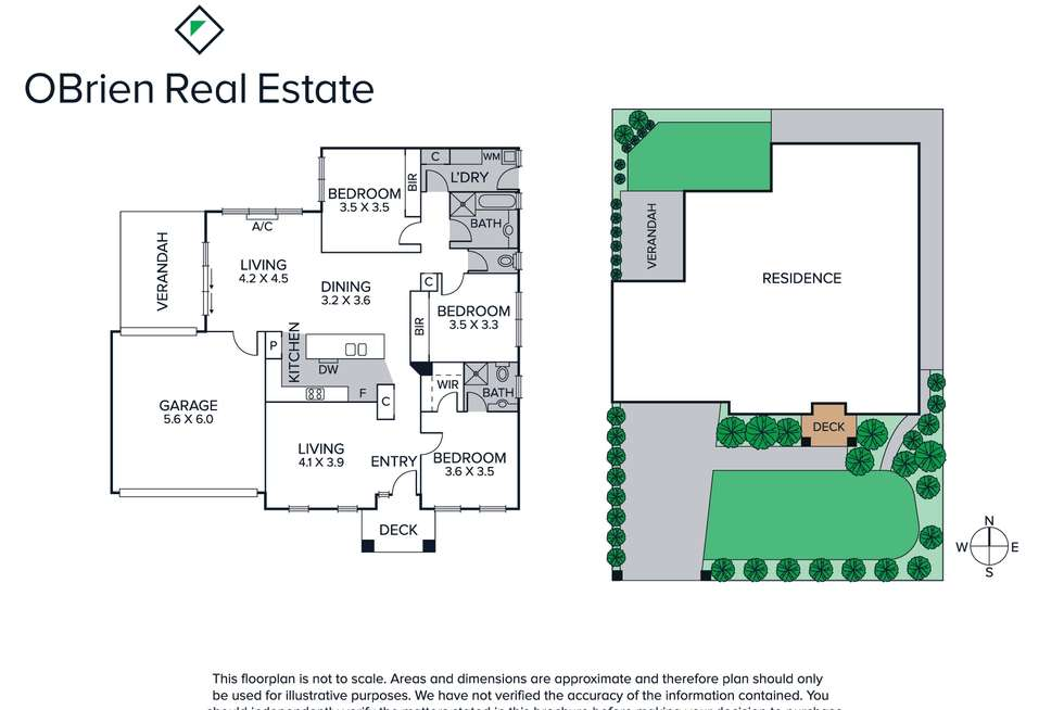 Floorplan of Homely house listing, 13 Oakland Street, Mornington VIC 3931