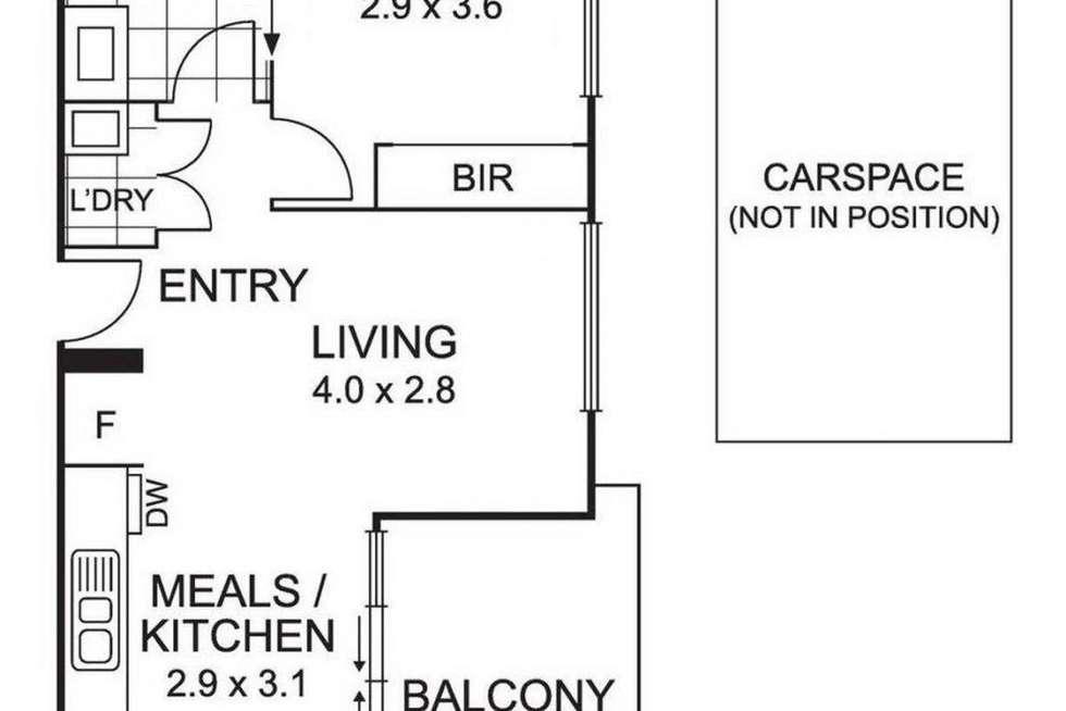 Floorplan of Homely apartment listing, 18/1044 Mt Alexander Road, Essendon VIC 3040