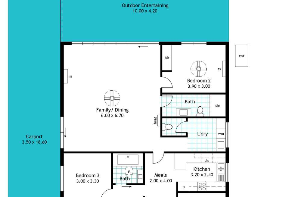 Floorplan of Homely house listing, 54 English Avenue, Clovelly Park SA 5042