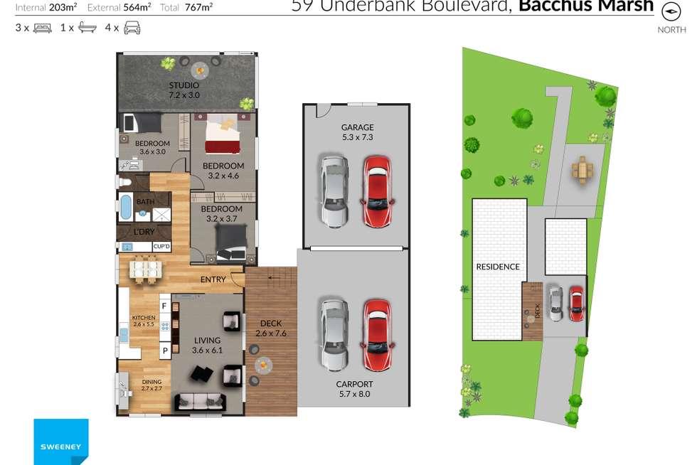 Floorplan of Homely house listing, 59 Underbank Boulevard, Bacchus Marsh VIC 3340