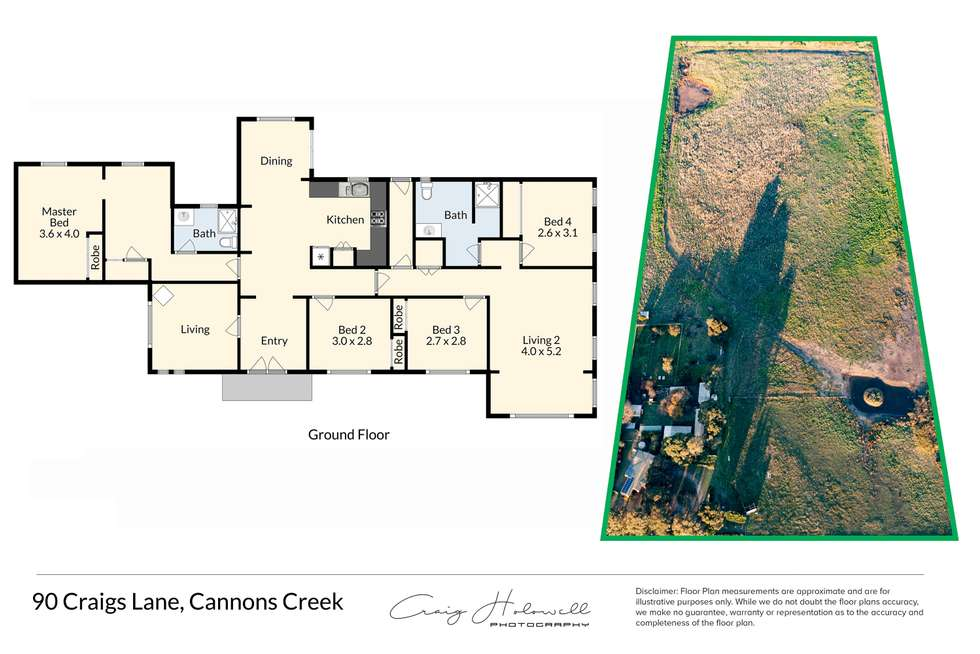 Floorplan of Homely house listing, 90 Craigs Lane, Cannons Creek VIC 3977