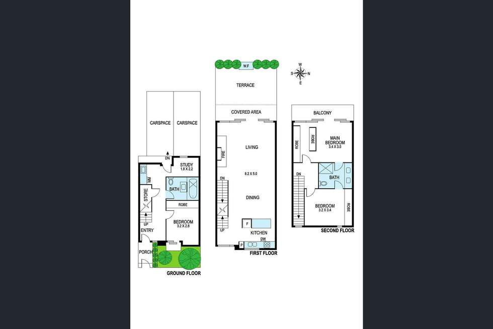 Floorplan of Homely townhouse listing, 18 Carroll Street, Richmond VIC 3121