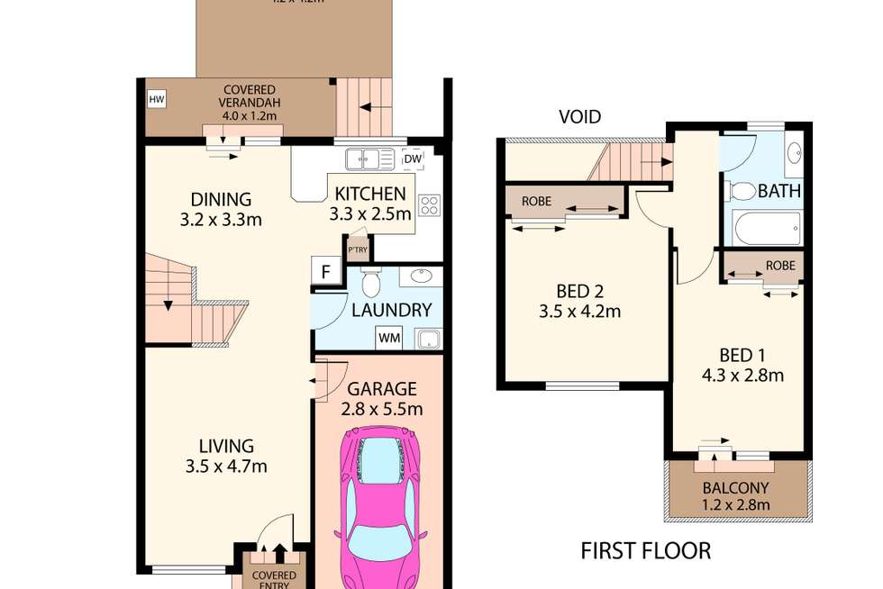 Floorplan of Homely townhouse listing, 2/2a Cullens Road, Punchbowl NSW 2196