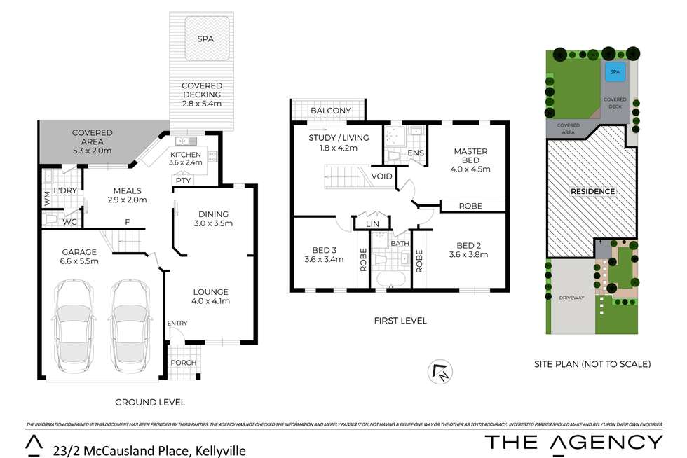 Floorplan of Homely townhouse listing, 23/2 McCausland Place, Kellyville NSW 2155