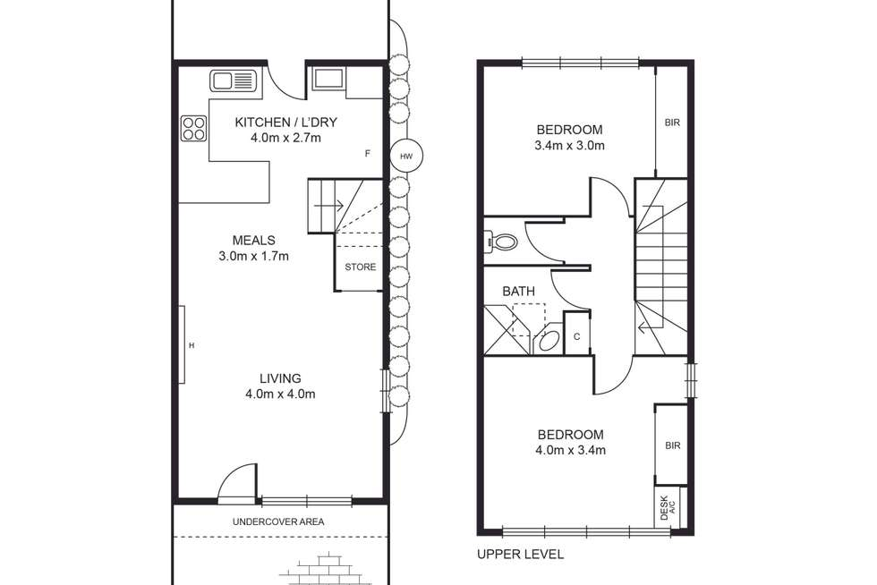 Floorplan of Homely townhouse listing, 23/516-518 Moreland Road, Brunswick West VIC 3055