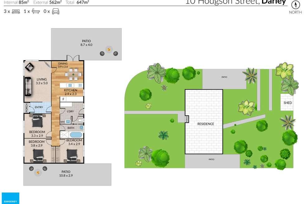 Floorplan of Homely house listing, 10 Hodgson Street, Darley VIC 3340
