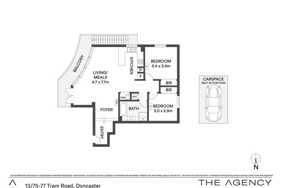 Floorplan of Homely apartment listing, 13/75-77 Tram Road, Doncaster VIC 3108