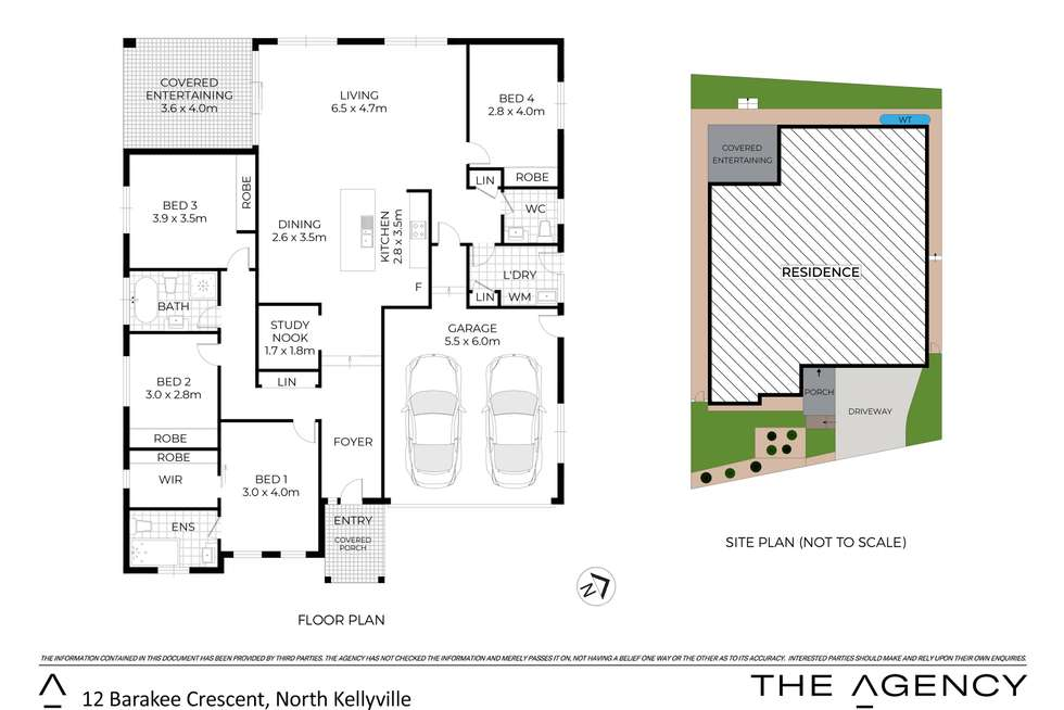 Floorplan of Homely house listing, 12 Barakee Crescent, North Kellyville NSW 2155