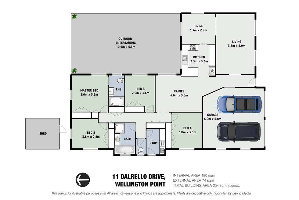 Floorplan of Homely house listing, 11 Dalrello Drive, Wellington Point QLD 4160
