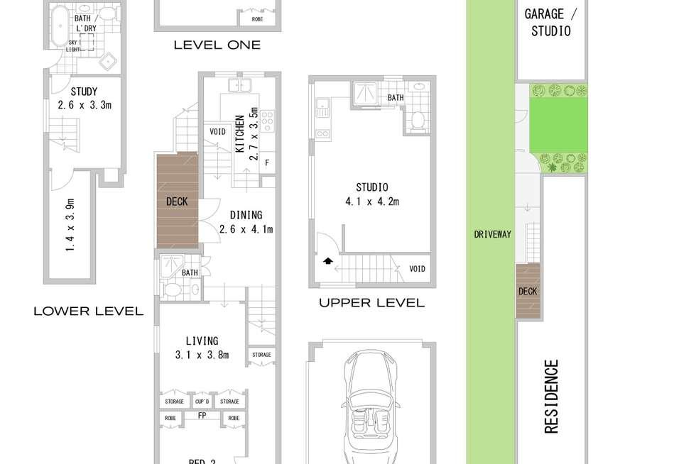 Floorplan of Homely semiDetached listing, 39 Croydon Road, Croydon NSW 2132
