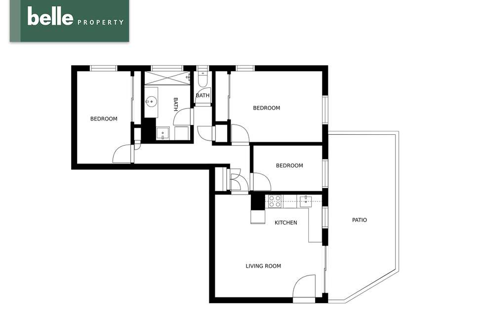Floorplan of Homely unit listing, 2/12 Rowell Street, Zillmere QLD 4034