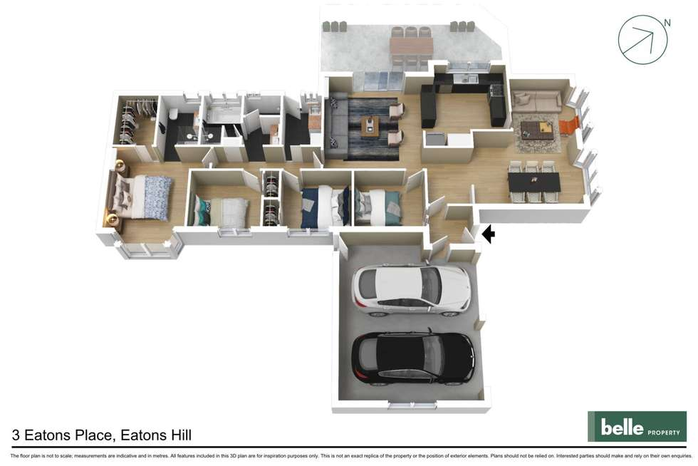 Floorplan of Homely house listing, 3 Eaton Place, Eatons Hill QLD 4037