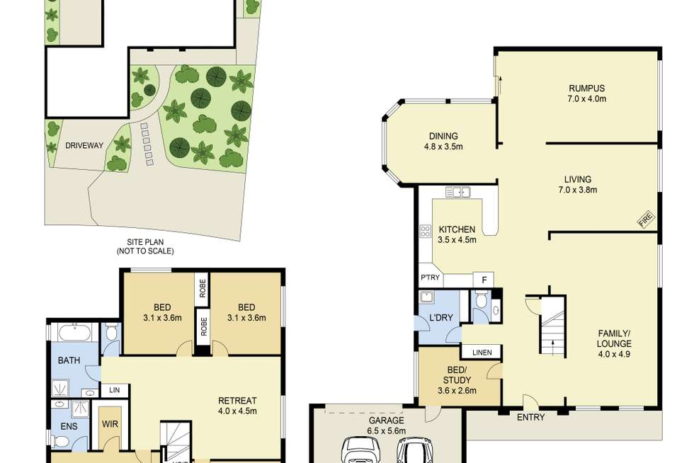 Floorplan of Homely house listing, 24 Medina Drive, Hoppers Crossing VIC 3029