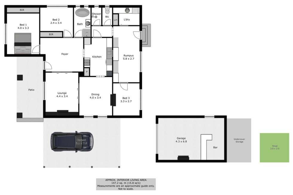 Floorplan of Homely house listing, 44 Redlands Road, Corowa NSW 2646