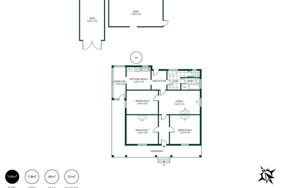 Floorplan of Homely house listing, 9 Woodside Road, Lobethal SA 5241