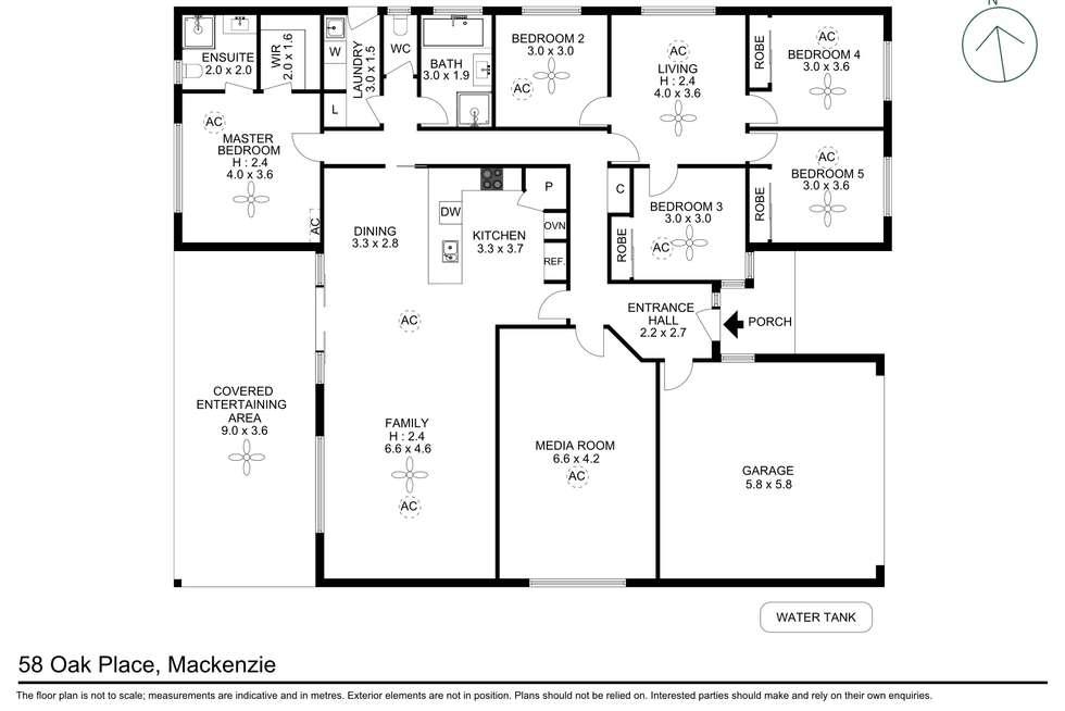Floorplan of Homely house listing, 58 Oak Place, Mackenzie QLD 4156
