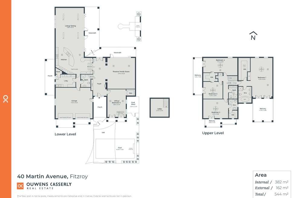 Floorplan of Homely house listing, 40 Martin Avenue, Fitzroy SA 5082