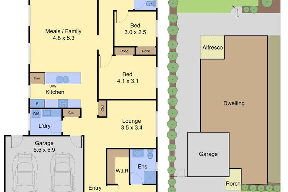 Floorplan of Homely house listing, 115 Martins Lane, Viewbank VIC 3084