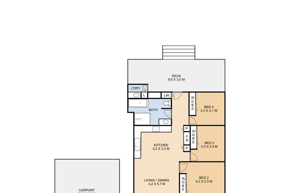 Floorplan of Homely house listing, 14 Gaydon Street, Newtown QLD 4350