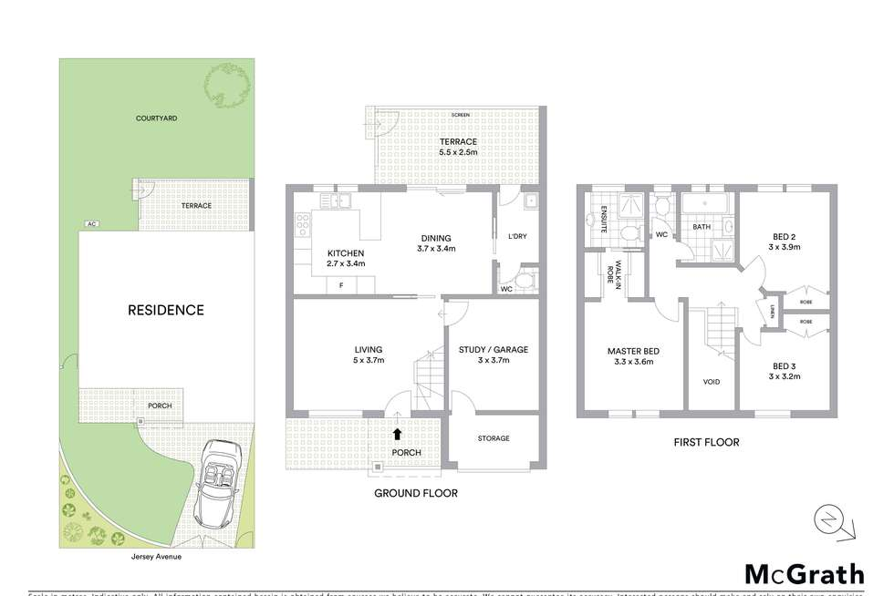 Floorplan of Homely semiDetached listing, 21 Jersey Avenue, Mortdale NSW 2223