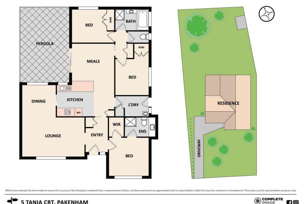 Floorplan of Homely house listing, 5 Tania Court, Pakenham VIC 3810