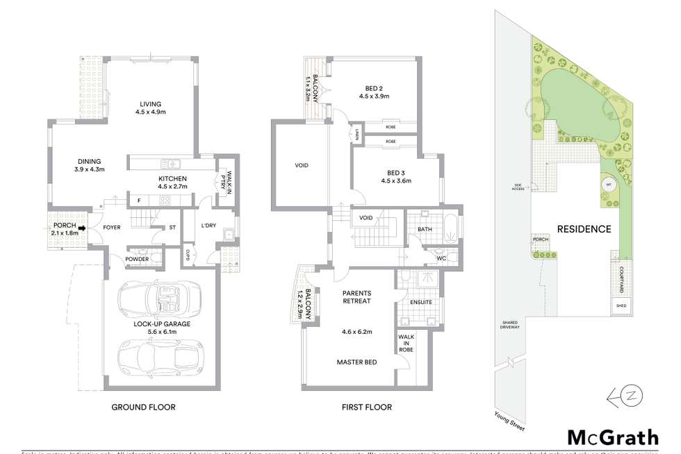 Floorplan of Homely semiDetached listing, 2/42 Young Street, Sylvania NSW 2224