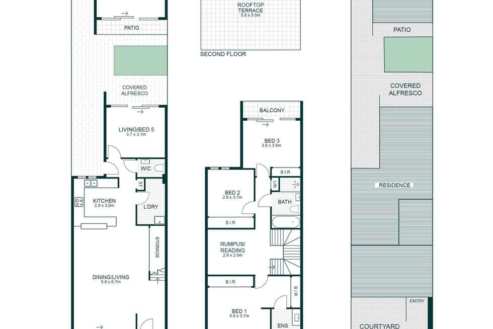 Floorplan of Homely townhouse listing, 17/48 Edwin Street, Mortlake NSW 2137