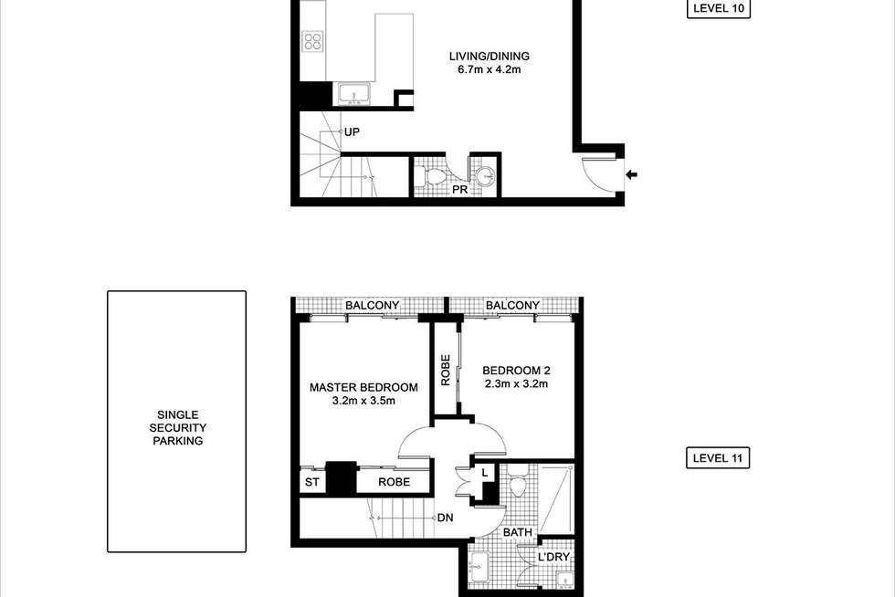 Floorplan of Homely apartment listing, 103/6 Poplar Street, Surry Hills NSW 2010