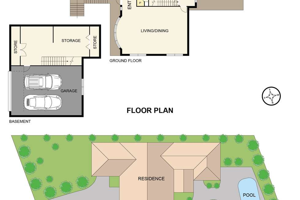 Floorplan of Homely house listing, 18 Shute Avenue, Berwick VIC 3806