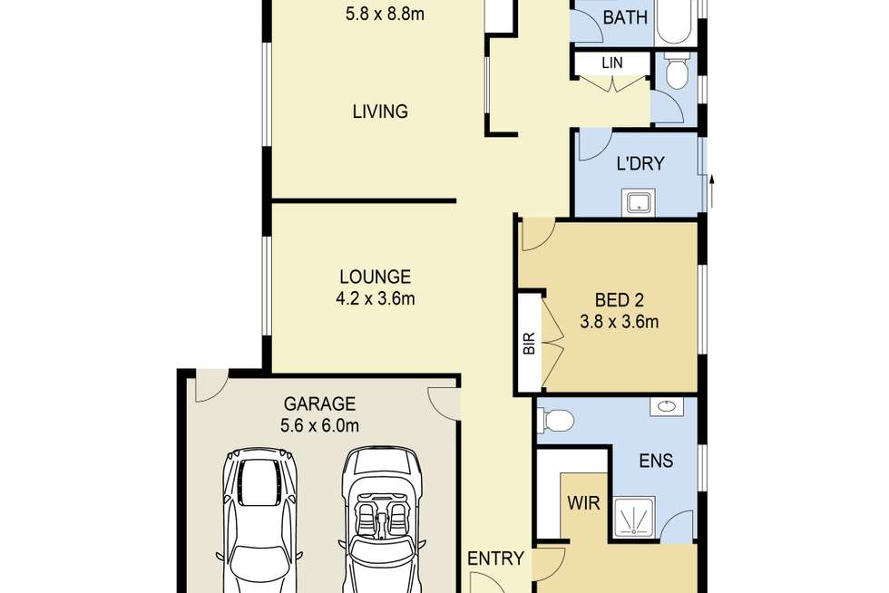 Floorplan of Homely house listing, 8 Chaucer Crescent, Truganina VIC 3029