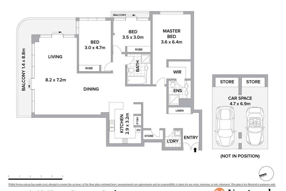 Floorplan of Homely apartment listing, 2201/168 Kent Street, Sydney NSW 2000