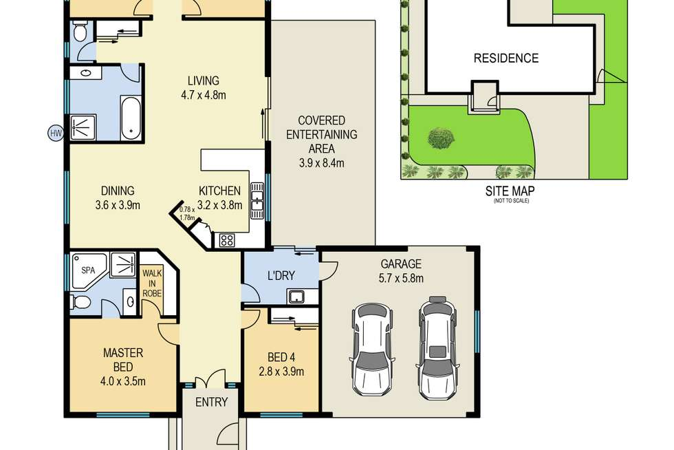 Floorplan of Homely house listing, 3 Cromwell Court, Alexandra Hills QLD 4161