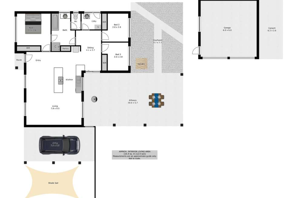 Floorplan of Homely house listing, 47 Federation Avenue, Corowa NSW 2646